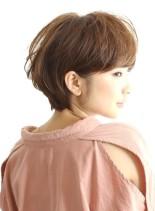 ふんわり柔らかい☆大人のショートヘア(髪型ショートヘア)