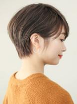 大人可愛い丸みショート◎(髪型ショートヘア)