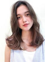 シークレットグラデーションカット(髪型セミロング)