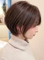 人気No.1◇耳掛け丸みショートボブ(髪型ショートヘア)