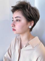 ファストブリーチ+ホワイトグレージュ(髪型ショートヘア)