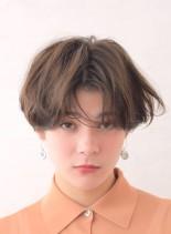ラフスクランチショート(髪型ショートヘア)
