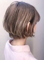 30代40代大人かわいいひし形ショート(髪型ショートヘア)