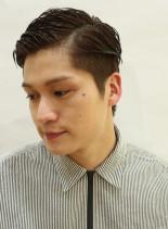 透けない刈り上げツーブロックスタイル(髪型メンズ)