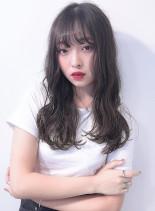 メラニンブレイク+ホワイトブラウン(髪型ロング)