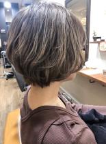 40代50代女性!ゆるふわショートパーマ(髪型ショートヘア)