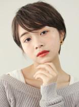 大人美人な耳かけショートカット☆(髪型ショートヘア)