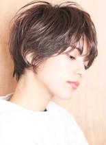 大人女子の朝楽エアリーショート*小顔効果(髪型ショートヘア)