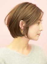 手入れ簡単☆耳掛けラフなショートボブ(髪型ショートヘア)