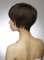 毛先が軽いショートボブスタイル(髪型ショートヘア)