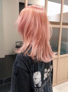 ホワイトピンクセミディ