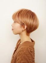 前髪厚めのお手入れ簡単ショートカット(髪型ショートヘア)