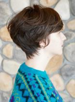 フレンチマッシュ  360度 骨格美人(髪型ショートヘア)