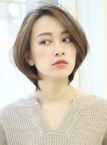フェミニンひし形オトナショートボブ(髪型ボブ)