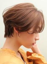 30代40代お手入れ簡単ハンサムショート(髪型ショートヘア)