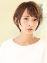 シルエットが綺麗×大人可愛い小顔ショート(髪型ショートヘア)