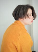 シンプルショートボブ(髪型ショートヘア)