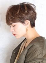 まとまるオシャレショートマッシュ(髪型ショートヘア)