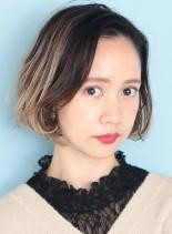 ミニボブ×ハイライト(髪型ボブ)