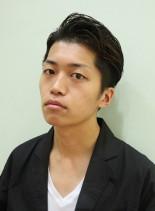 ワイルドアップバングショート(髪型メンズ)
