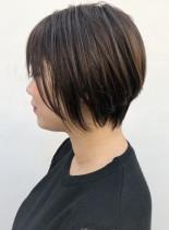 30代、40代 ショートボブ(髪型ショートヘア)
