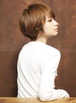 大人のふんわりカールショートボブ(髪型ショートヘア)