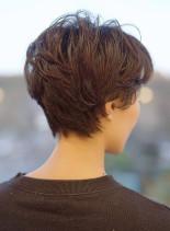 大人コンパクトショートレイヤー(髪型ショートヘア)