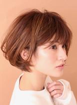 スタイリング簡単◎大人ショートボブ(髪型ショートヘア)