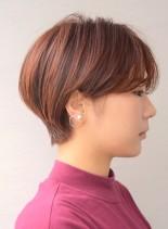 カジュアルオレンジショート(髪型ショートヘア)
