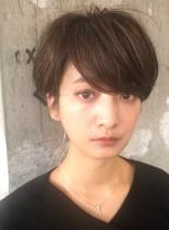 ハイライト☆大人マッシュショート(髪型ショートヘア)