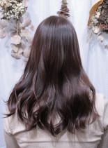 イルミナカラー・コーラル×サファリ(髪型セミロング)