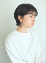 マッシュショートウルフ(髪型ショートヘア)