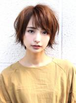 大人可愛い束感ショート (髪型ショートヘア)
