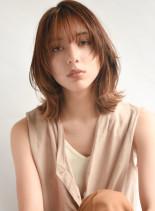 滝沢カレン風 外ハネウルフ(髪型ミディアム)
