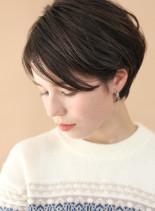 大人可愛い耳かけショート(髪型ショートヘア)