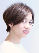 メリハリシルエットのひし形ショート(髪型ショートヘア)
