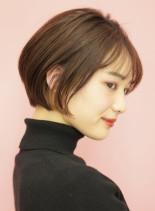 手入れ簡単☆大人ショートボブ(髪型ショートヘア)
