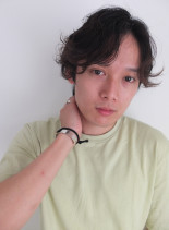 メンズナチュラルパーマスタイル(髪型メンズ)