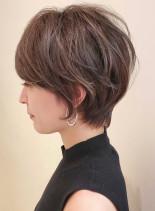 30代40代ならボリュームシルエット☆(髪型ショートヘア)