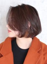 シンプルなワンカールボブ(髪型ボブ)