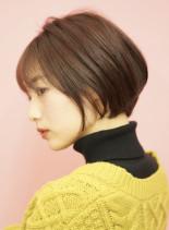 手入れ簡単☆大人かわいいショートボブ(髪型ショートヘア)