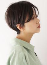 大人かわいい☆抜け感ハンサムショート(髪型ショートヘア)