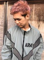 light pink × violet(髪型メンズ)