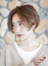 大人ショート ☆ ゆるふわグラボブ(髪型ショートヘア)