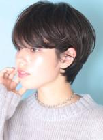大人の暗髪◇耳掛けニュアンスショート