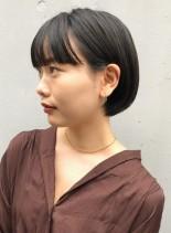 大人の丸みショートボブ(髪型ショートヘア)