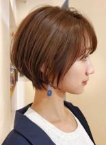 ひし形なら小顔ショートボブ☆(髪型ショートヘア)