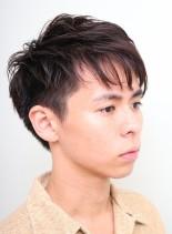 大人ツーブロックショート(髪型メンズ)
