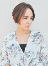 大人かわいい美シルエットショートボブ(髪型ショートヘア)