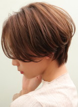 お手入れ簡単*前髪長め*ショートカット(髪型ショートヘア)